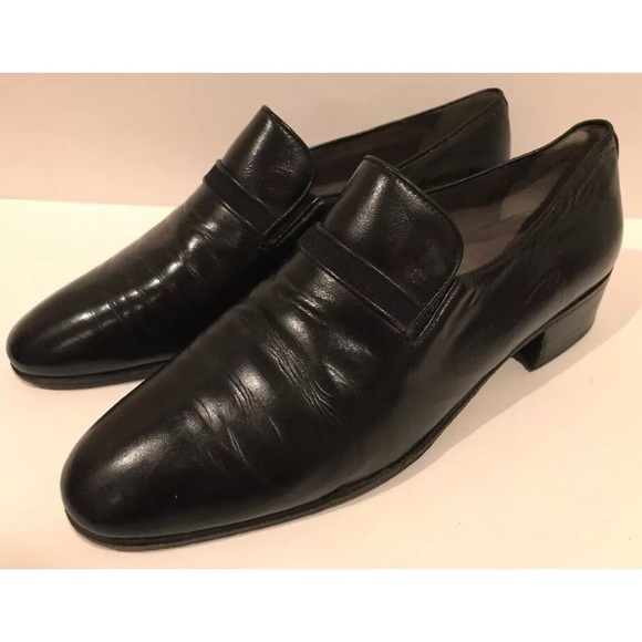 barrett Other - VTG Black Leather Italian Loafers J.R. Barrett 7